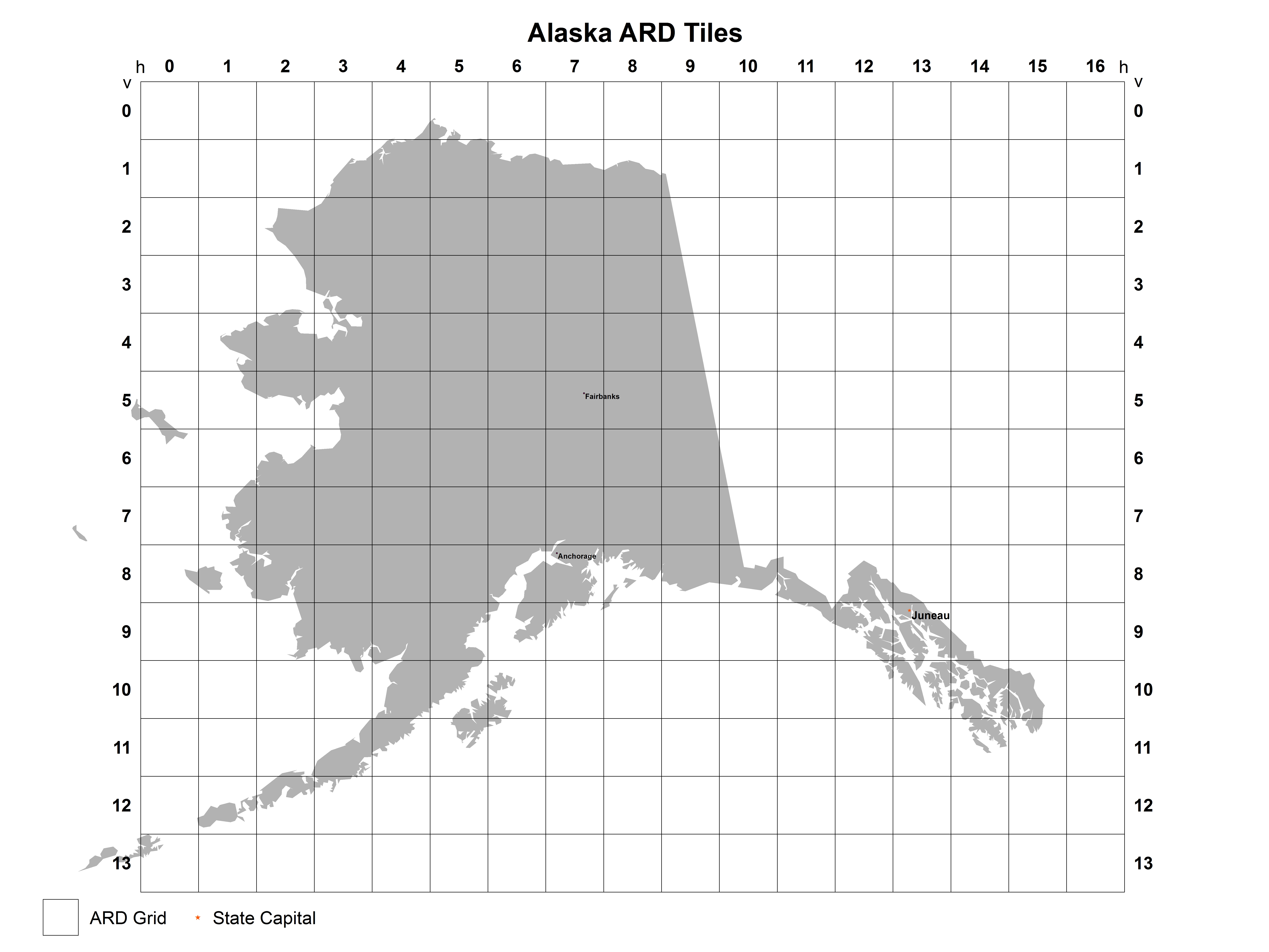 Alaska Analysis Ready Data (ARD) Tile Map