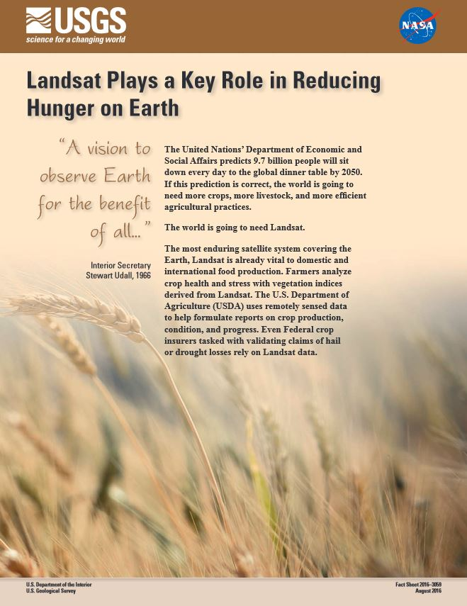 Reducing Hunger Landsat Factsheet 2016
