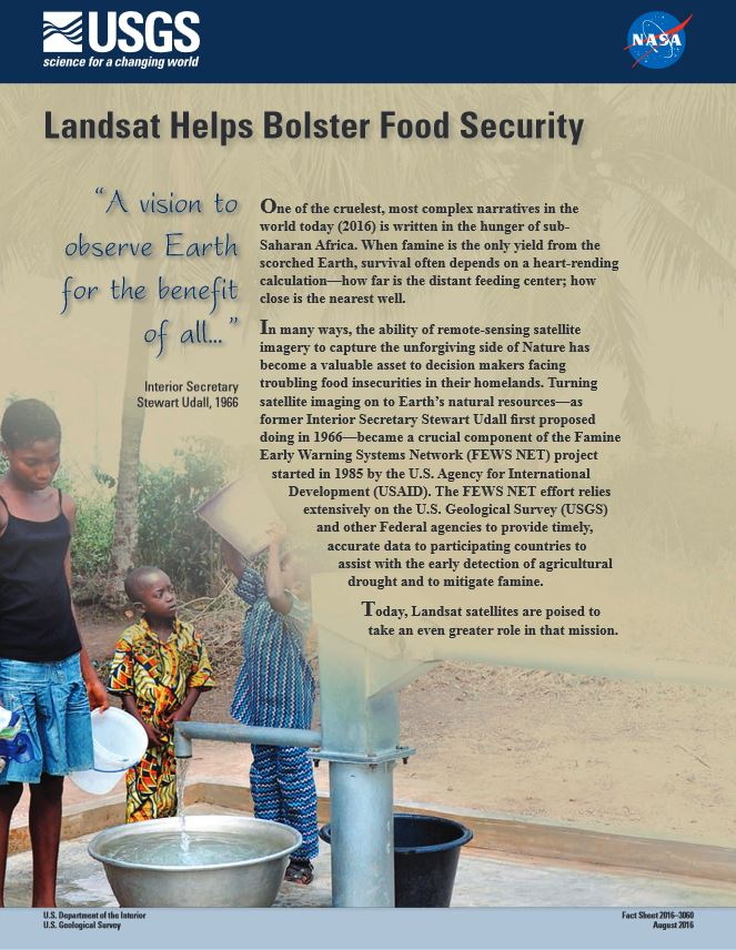 Food Security Landsat Factsheet 2016