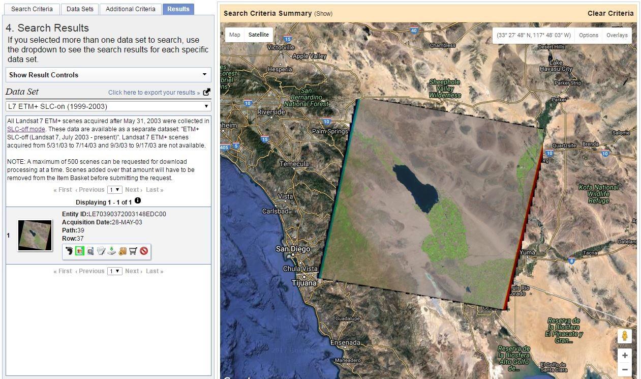 Find and download landsat 8 remote sensing data from the usgs.