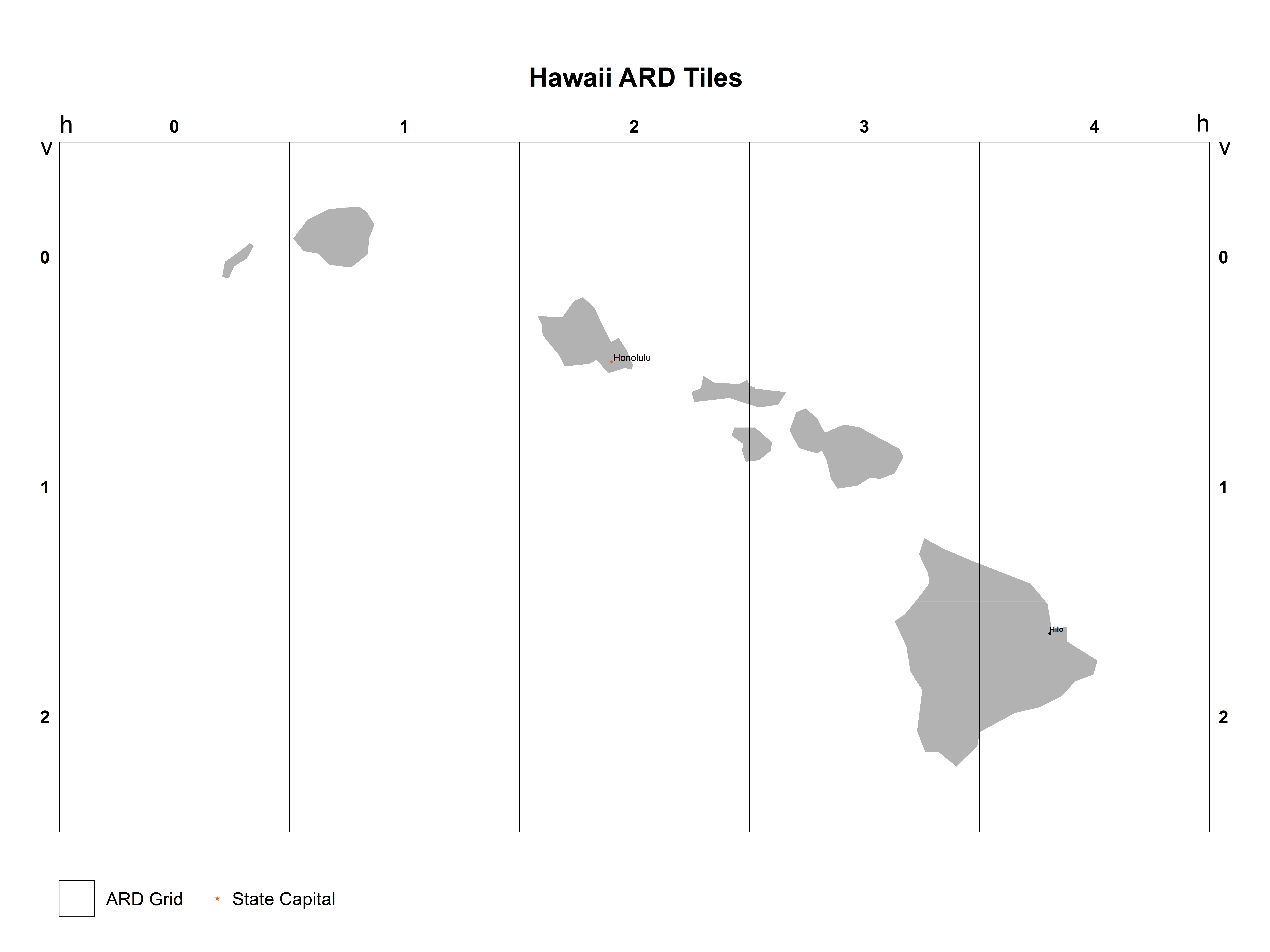 Hawaii Analysis Ready Data (ARD) Tile Map