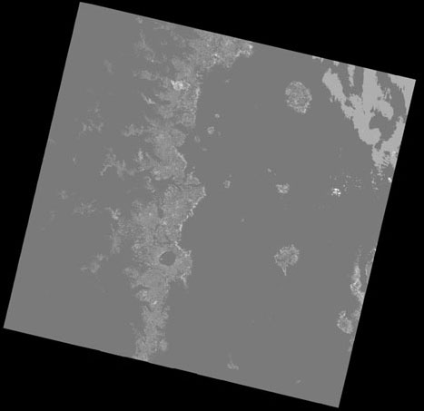 Figure 4-6 . Quality Band (BQA.TIF)  displayed for Landsat 8 Sample Data (Path 45 Row 30) Acquired April 23, 2013