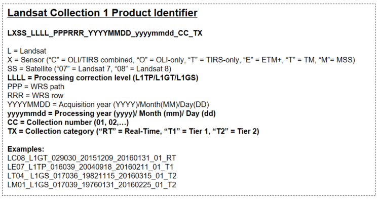 Collection 1 Product Identifiers